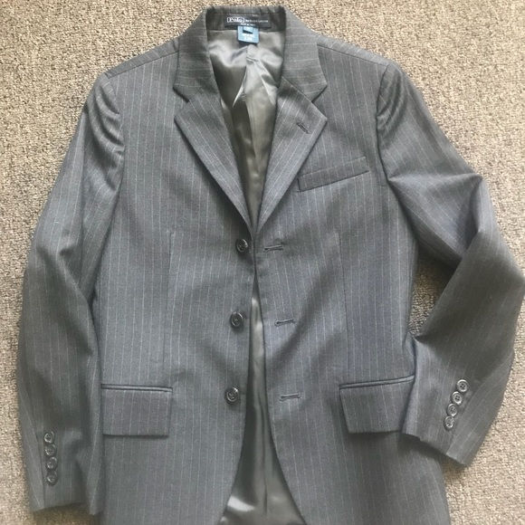 Ralph Lauren Other - Boys Ralph Lauren suit Grey pinstripe size 12